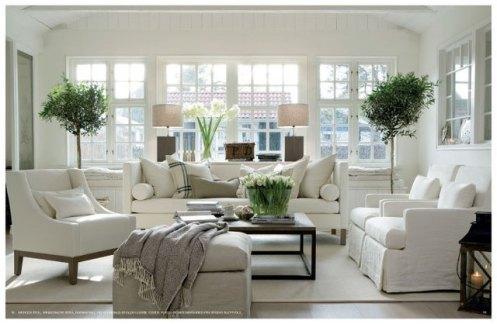 black and white posh home living room