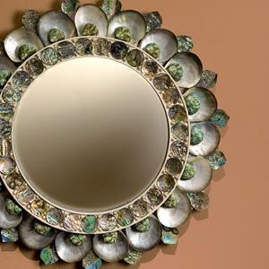 Maison Gerard round sea shell sun mirror