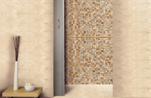 beige sand color spa modern bathroom tiles