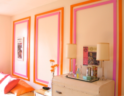 pink and orange bedroom wall wary meyers