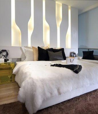 white modern minimalistic master bedroom
