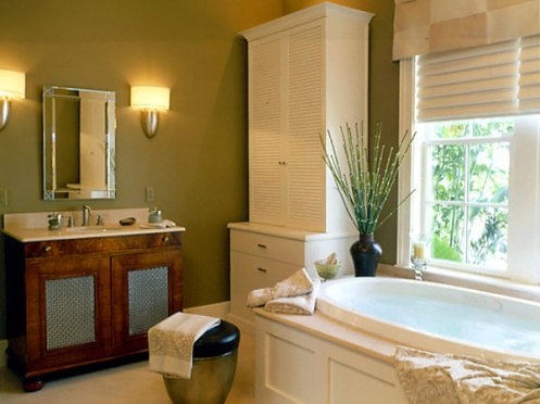olive green and white bathroom modern classic