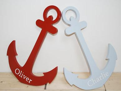 nautical interior style personalised anchor decor