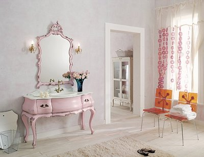 romantic dresser country home pink