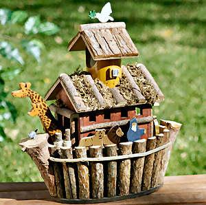 noahs-ark-wooden birdhouse