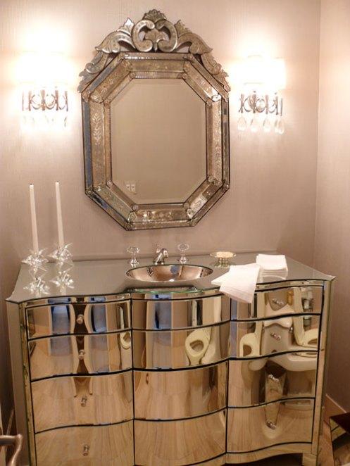 glamorous bedroom mirror sink
