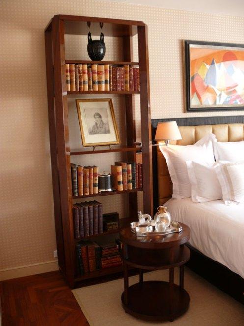 beige orange bedroom
