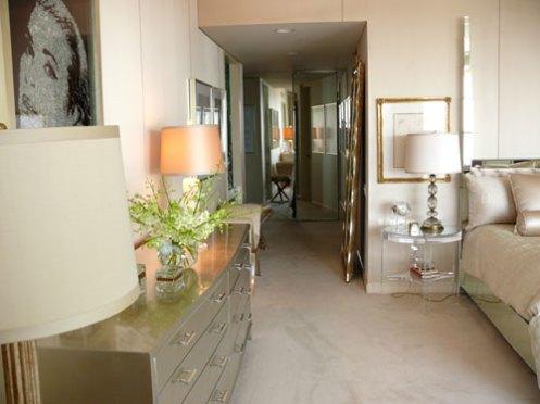 posh classy glamorous bedroom mirror bed and mirror dresser