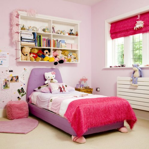 purple lilac white pink kids room
