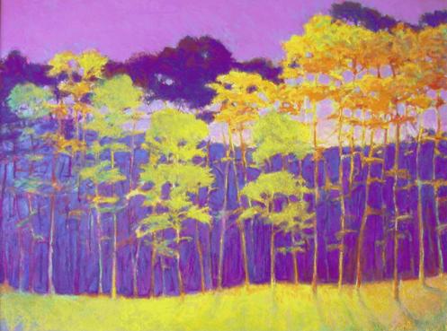 ken elliott pastel forest green purple