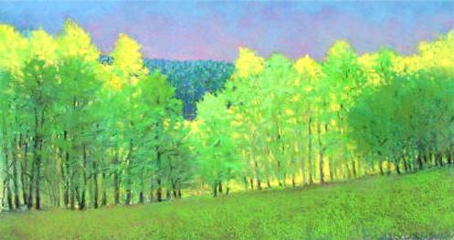 ken elliott pastel forest green blue