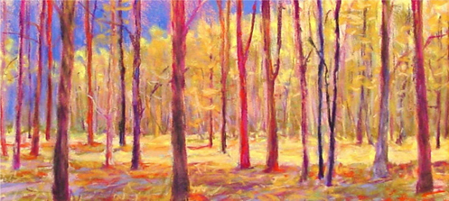 ken elliott pastel forest yellow