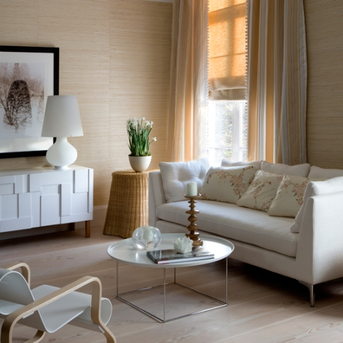 peach white sofa living room modern