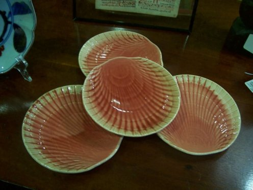 sea shell dinner plates pink