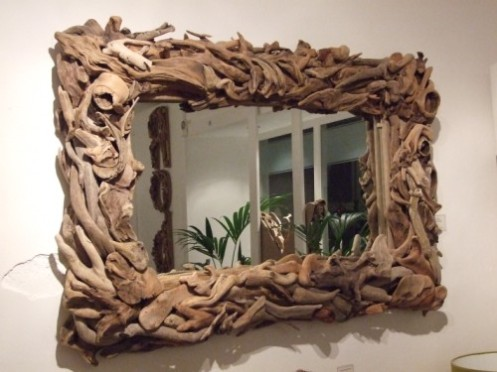 driftwood large mirror frame