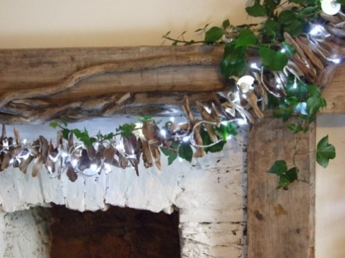 Driftwood light rod christmas decor