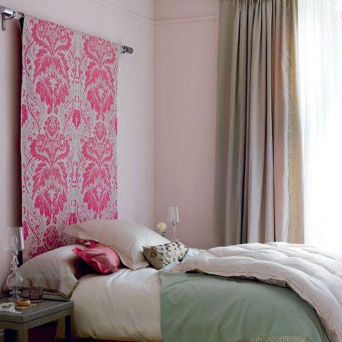 pink bedroom easy headboard bed idea