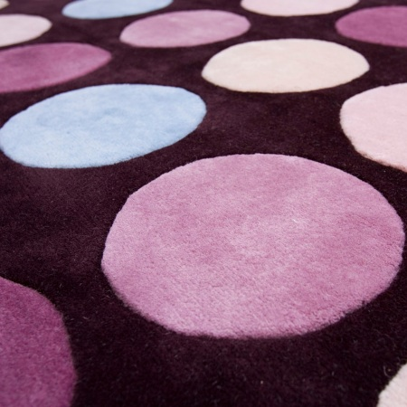purple dot carpet retro modern