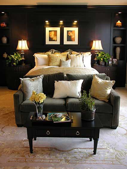 black dark bedroom modern