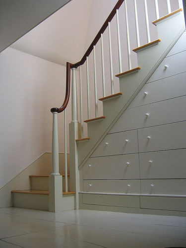 Storage staircase inder staircase