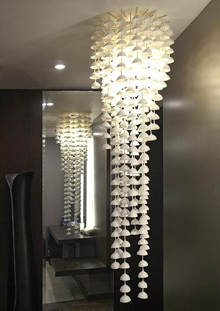 whitw ceramic chandelier lamp