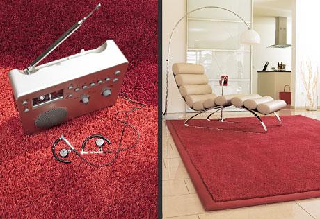 red burgundy carpet modern