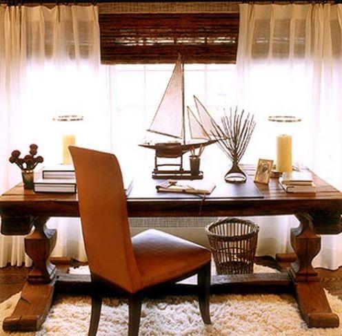 nautical interior desk work space, brown beige tan sailboat