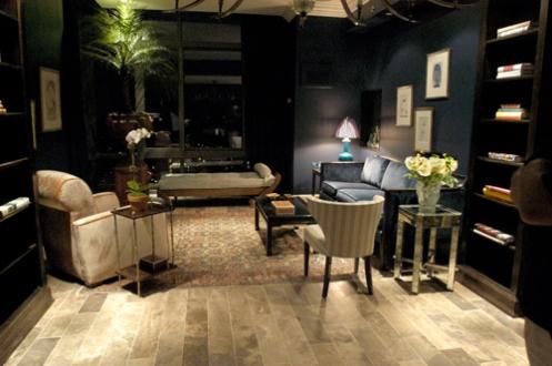 black modern living room good lighting