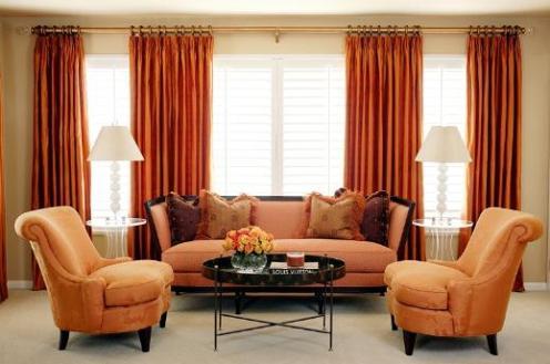 terracotta saffron red bedroom lounge living room