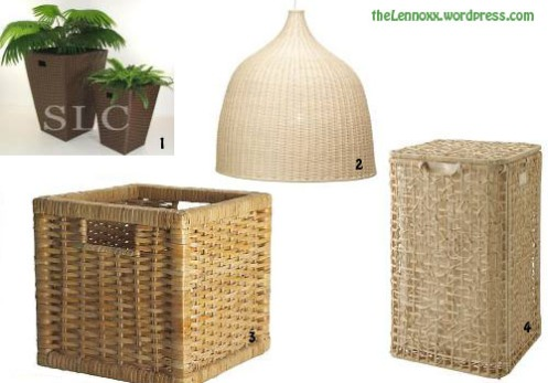 rattan flower pot lamp shade hamper box
