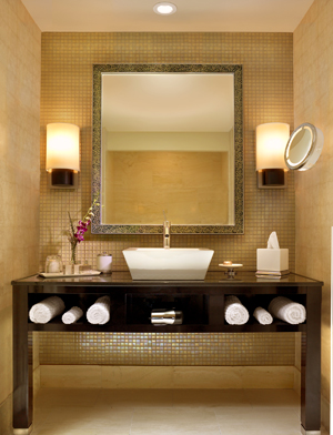 home spa bathroom look beige brownac