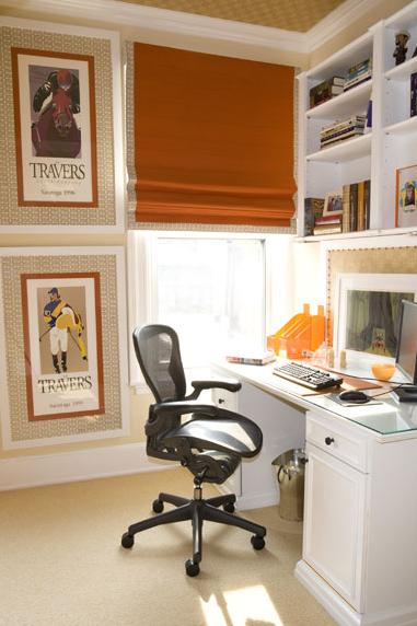 saffron terracotta white beige modern home office