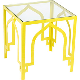 yellow modern chinese lattice style side table coffe table