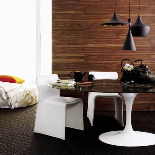 Walnut wooden dining room