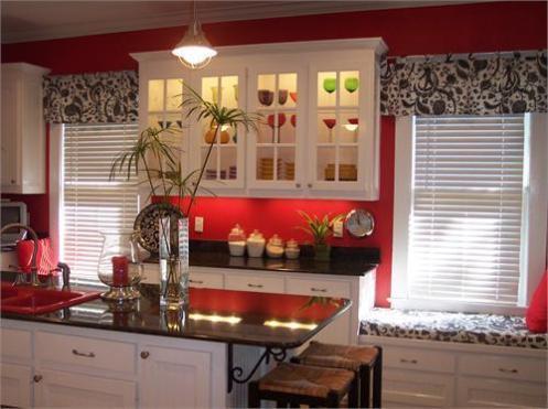 red white black kitchen modern