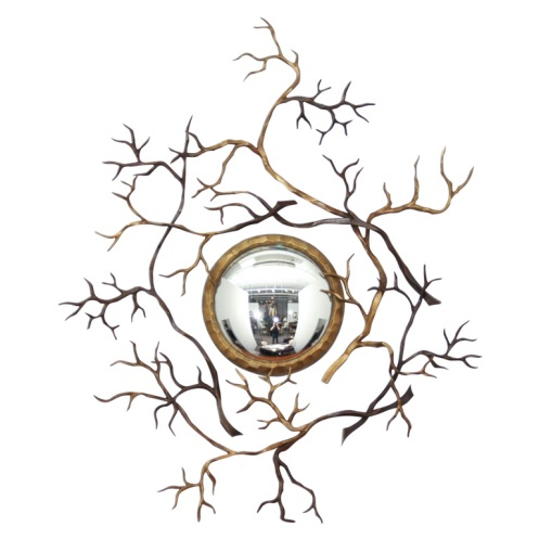 round mirror modern with branches