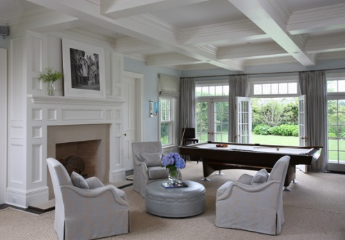 ice cold blue and white posh living room