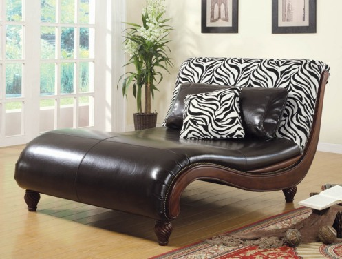 chaise lounge brown zebra