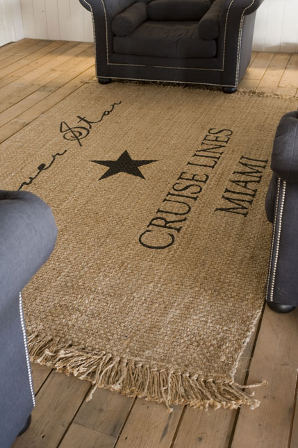 corn sack style rug nautical interior