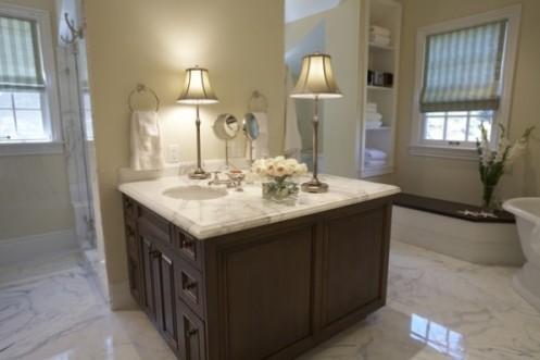 posh glamorous bathroom white marble