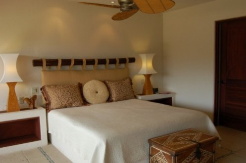 tropical white brown bedroom