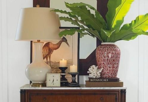 tropical living room detail