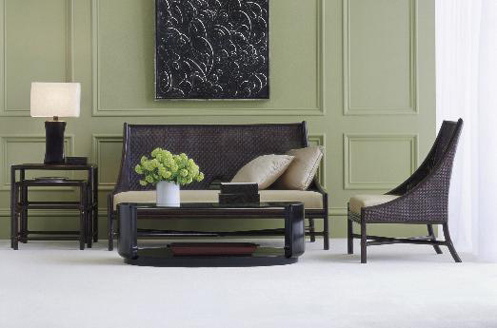 Smokey hues thelennoxx for Green and grey living room ideas