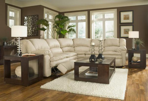 brown and cream modern living room cream couch
