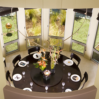 round table modern dining room