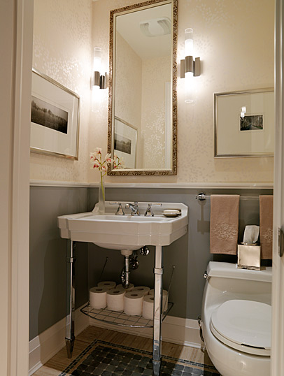 cream and grey bathroom