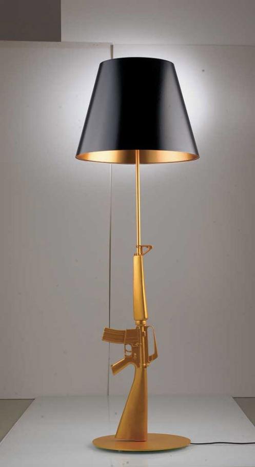 gold ak47 floor lamp