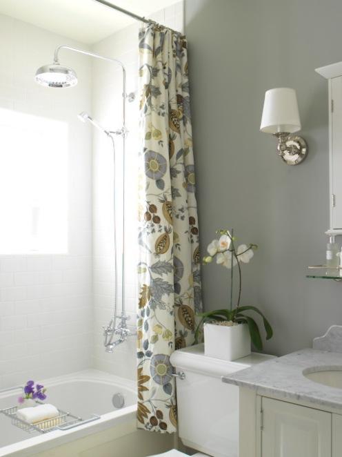 bathroom shower grey and white bathroom
