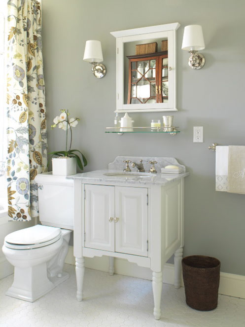 grey white bathroom pretty sink