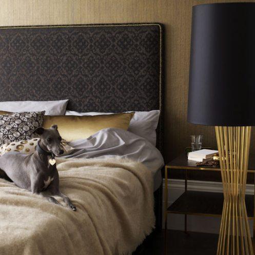 golden glamourous bedroom